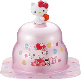サトウの福餅入り鏡餅小飾り ハローキティオリジナルマスコット付ピンク の商品画像
