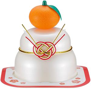 サトウの福餅入り鏡餅小飾り 橙付き の商品画像