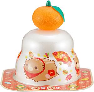 サトウの福餅入り鏡餅小飾り 干支橙付き の商品画像