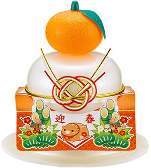 サトウの福餅入り鏡餅小飾り 迎春 橙付き の商品画像