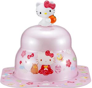 サトウの福餅入り鏡餅小飾り ハローキティオリジナルマスコット付きピンク の商品画像
