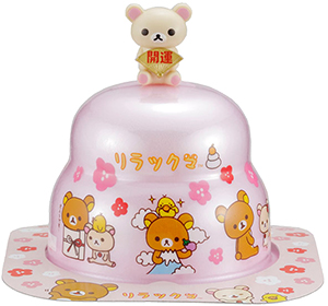 サトウの福餅入り鏡餅小飾り コリラックマオリジナルマスコット付きピンク の商品画像