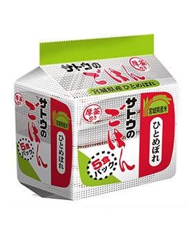 宮城県産ひとめぼれ 5食パック の商品画像