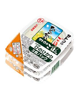 九州産ひのひかり200g  3食パック の商品画像