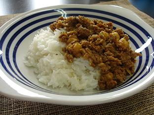 ひき肉とひよこ豆のカレーの画像