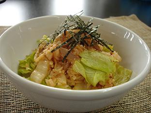 混ぜるだけのレタスキムチ飯の画像