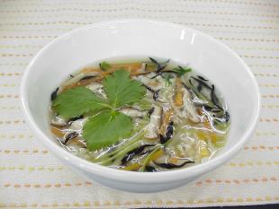 発芽玄米のボリューム満点ひじき雑炊の画像