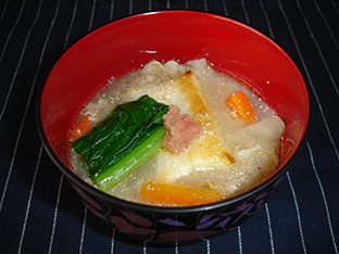豚バラ明太雑煮の画像