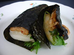 豚キムチ餅の画像