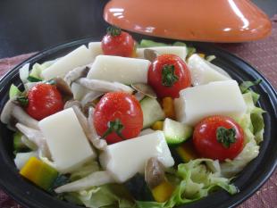 餅と夏野菜の蒸し煮の画像