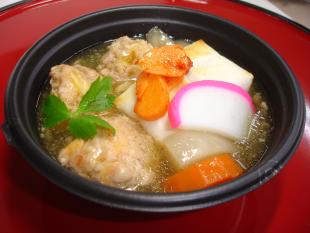 にんにく鶏団子雑煮の画像