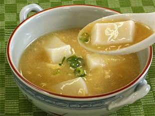 お餅入り中華風コーンスープの画像