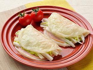 白菜サラダのもちラップサンドの画像