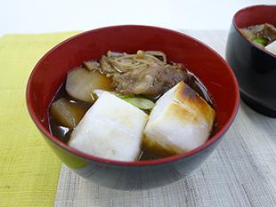 餅入り芋煮汁の画像