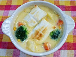 餅入り冷製ポタージュスープの画像