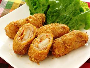 餅の豚キムチ巻き揚げの画像