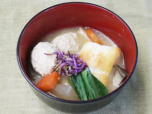 鶏団子雑煮の画像