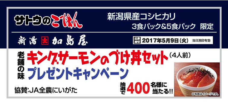 サトウ食品 キングサーモンのづけ丼セットプレゼントキャンペーン