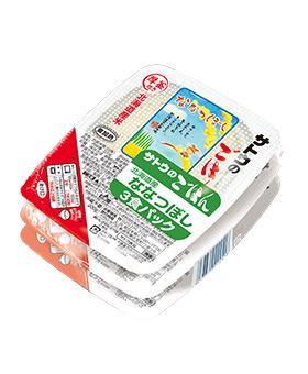 北海道産ななつぼし 200g 3食パックの画像