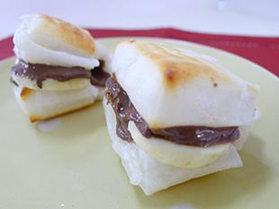 チョコ&バナナの餅スイーツの画像