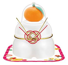 サトウの福餅入り鏡餅 小飾り 橙付きの画像