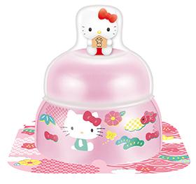 サトウの福餅入り鏡餅 小飾り ハローキティ オリジナルマスコット付きピンクの画像