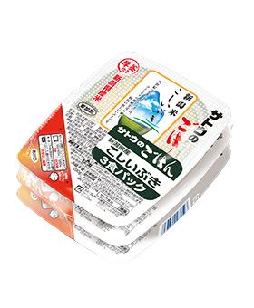 新潟県産こしいぶき||200g 3食パックの画像
