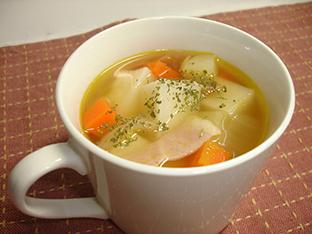 餅入り具だくさんスープの画像