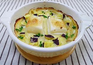 お餅とハムの豆乳グラタンの画像